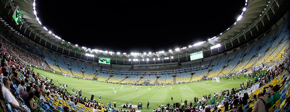 A general view of the re-opening of the newly renovated Macarana Stadium in Rio de Janeiro