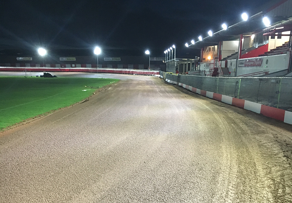 Carbon8 Lighting speeds things up for Glasgow Tigers speedway team
