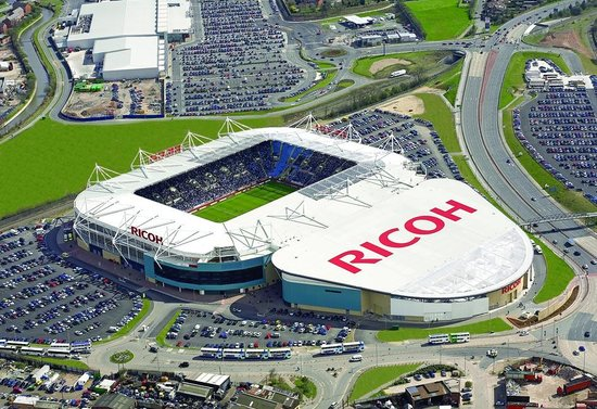 Delaware North sign a 20-year partnership to provide catering and hospitality services at Ricoh Arena in Coventry